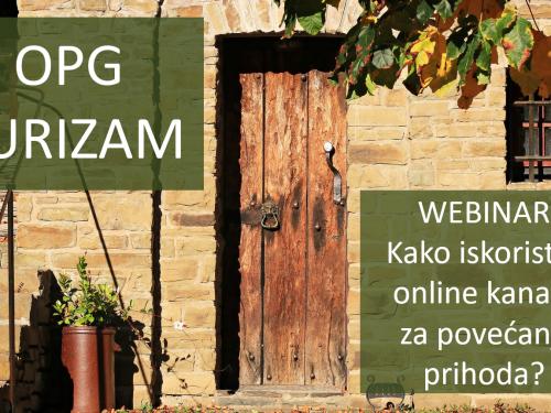 U organizaciji Hrvatske zajednice županija webinar za OPG-ove u turizmu
