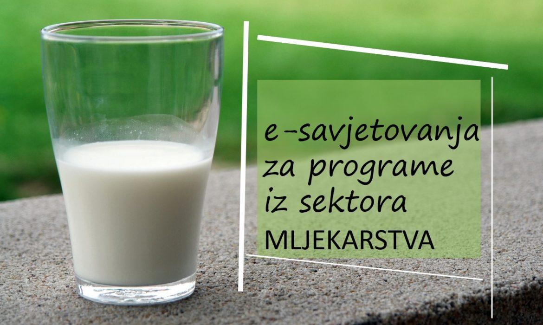 E- savjetovanja za programe iz sektora mljekarstva