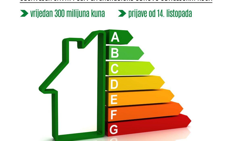 Objavljen je Javni poziv za energetsku obnovu obiteljskih kuća