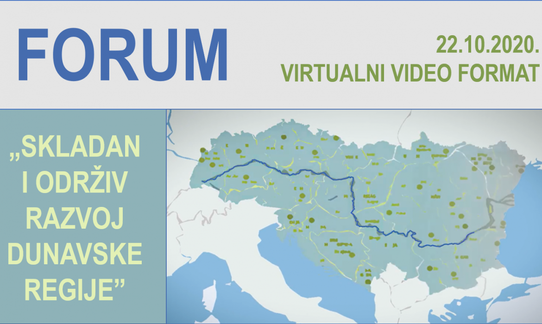 "Forum ""Skladan i održiv razvoj Dunavske regije"" virtualno 22.10."