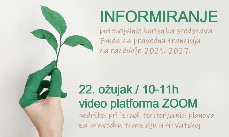 Najava sastanka- informiranje  potencijalnih korisnika sredstava Fonda za pravednu tranziciju