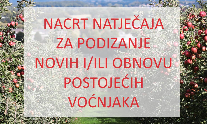 Otvoreno savjetovanje o Nacrtu natječaja za podizanje i/ili obnovu voćnjaka