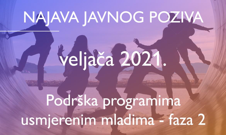 Za indikativni datum objave u veljači 2021. najavljen je javni poziv za operaciju Podrška programima usmjerenim mladima – faza 2.
