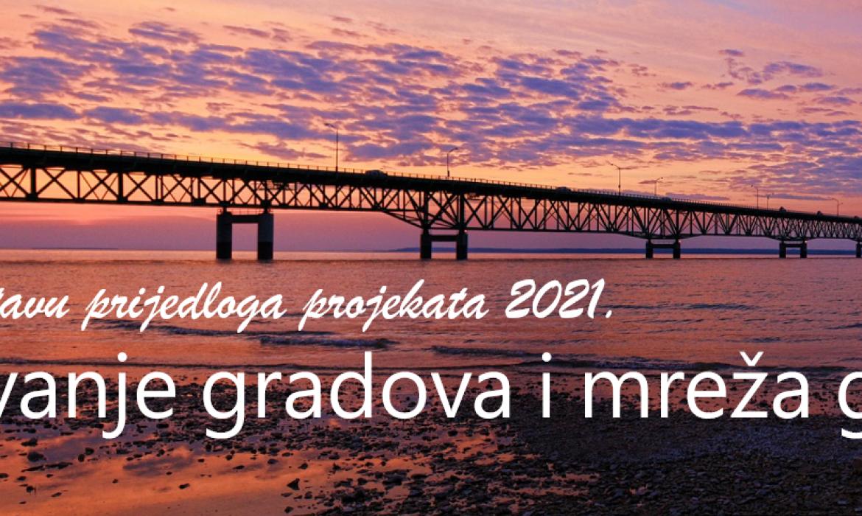 Objavljen Poziv na dostavu prijedloga projekata 2021. za povezivanje gradova i mreža gradova