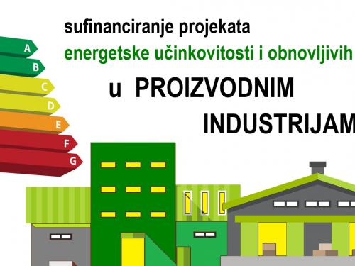 Za sufinanciranje projekata energetske učinkovitosti i obnovljivih izvora u proizvodnim industrijama osigurano 266 milijuna kuna
