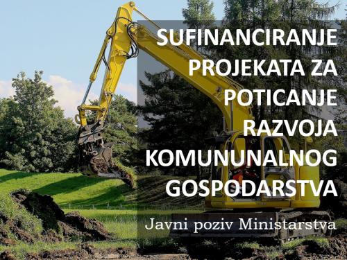 Odabrani su projekti iz BPŽ za sufinanciranje prema pozivu za razvoj komunalnog gospodarstva