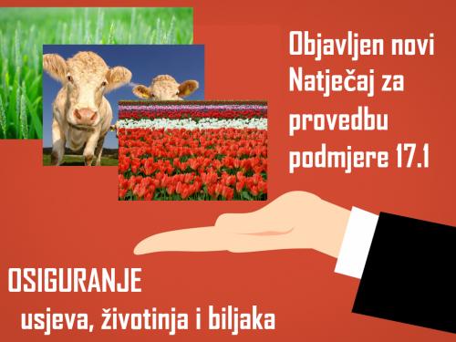 Potpore za osiguranje usjeva, životinja i biljaka