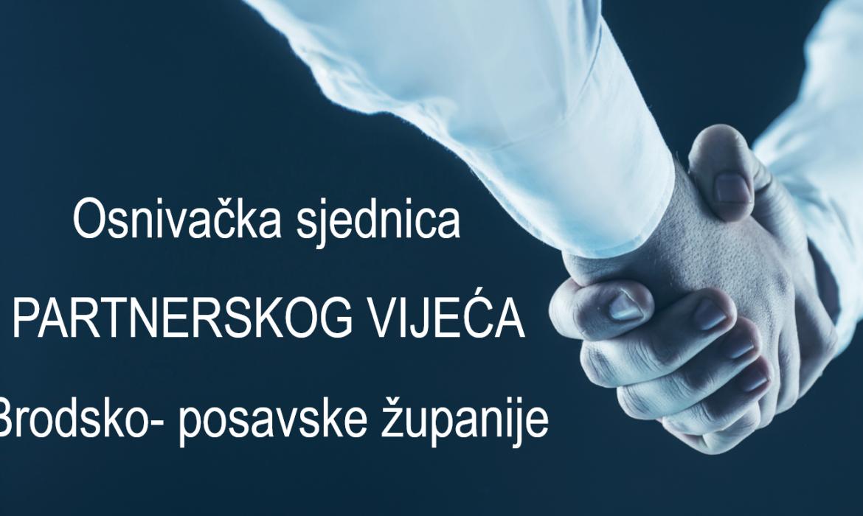 Osnivačka sjednica Partnerskog vijeća Brodsko-posavske županije